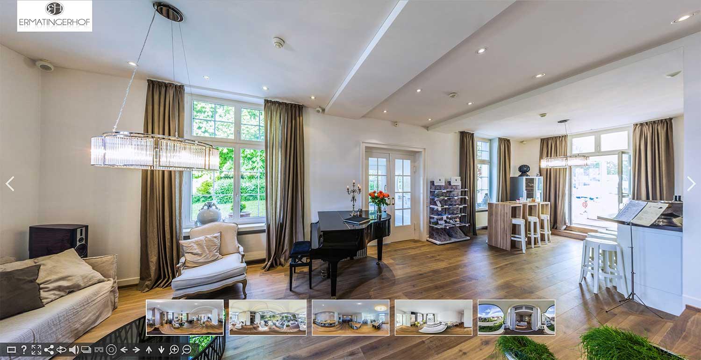 Panoramabilder mit 360 Grad Ansicht und Panoramafotografie für Hotels und Ferienwohnungen: Virtueller Rundgang durch Ferienwohnung