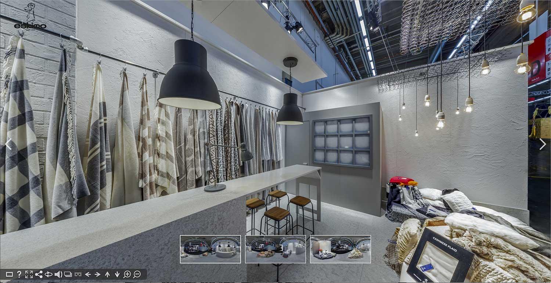 Panoramabilder mit 360 Grad Ansicht und Panoramafotografie Gewerbe: Virtueller Rundgang durch Verkaufsraum