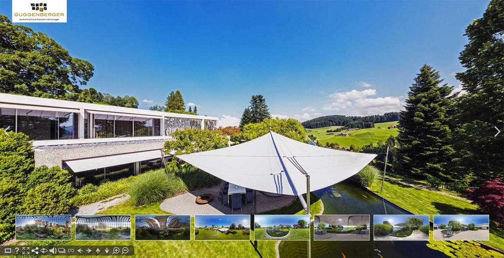 Panoramabilder mit 360 Grad Ansicht und Panoramafotografie Gewerbe: Produkte virtuell 360 Grad erleben