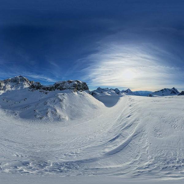 Luftaufnahmen mit Helikopter: schweizer Gletscher