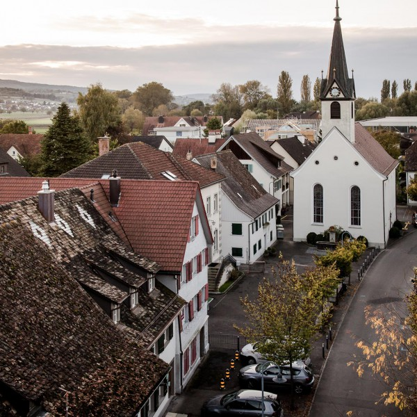 Luftaufnahmen mit Drohne: Gottlieben.