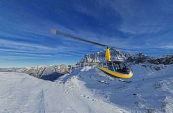 Luftaufnahmen mit Helikopter vor der Tödi