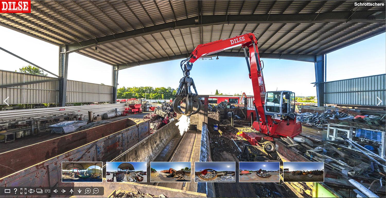 Panoramabilder mit 360 Grad Ansicht und Panoramafotografie Gewerbe: Virtueller Rundgang durch Betrieb