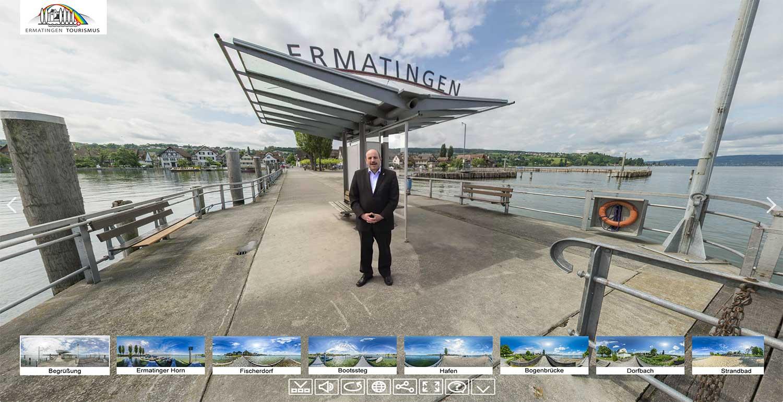 Panoramabilder mit 360 Grad Ansicht und Panoramafotografie für Tourismus: Virtueller Rundgang durch Ermatingen