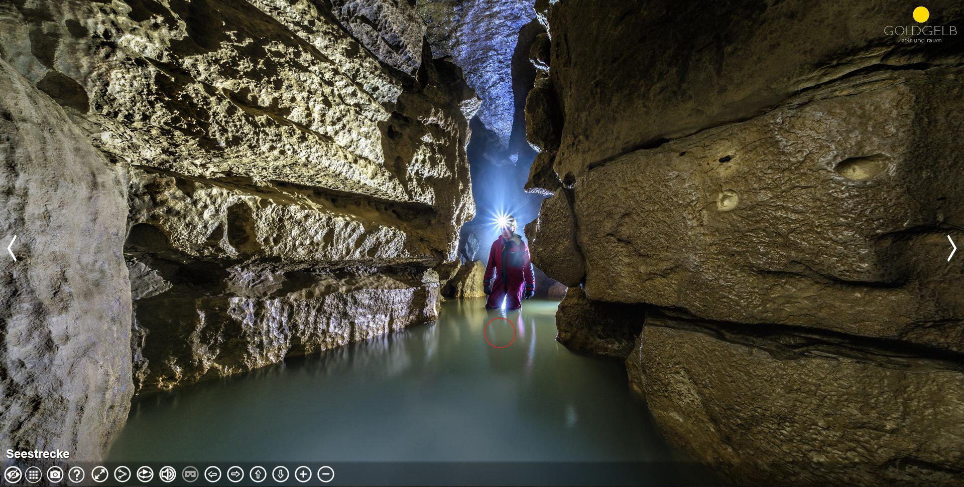 360 Grad Fotografie / Virtual Reality: Tourismus Fotografie: Falkensteinhöhle