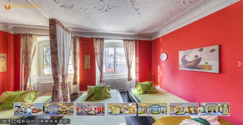 Panoramabilder mit 360 Grad Ansicht und Panoramafotografie Tourismus: Virtueller Rundgang durch Hotel