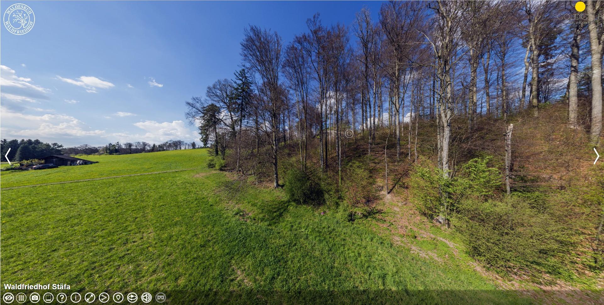 360 Grad Fotografie / Virtual Reality: Gewerbe Fotografie: Waldfriedhof