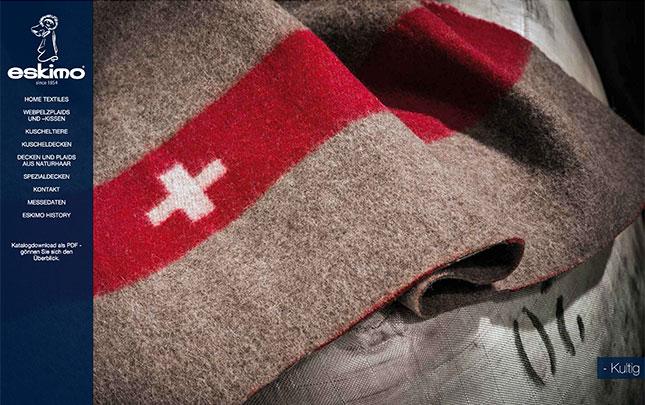 Webdesign und Grafik für Eskimo Decken Schweiz