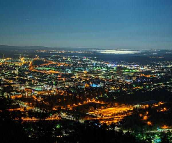 Landschaftsfotografie Stadt bei Nacht