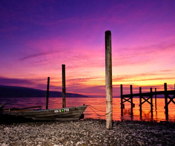 Landschaftsfotografie See Abendrot