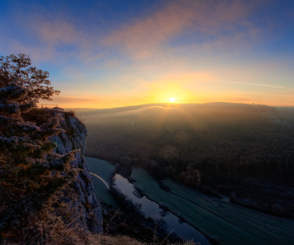 Landschaftsfotografie Sonnenuntergang in den Bergen