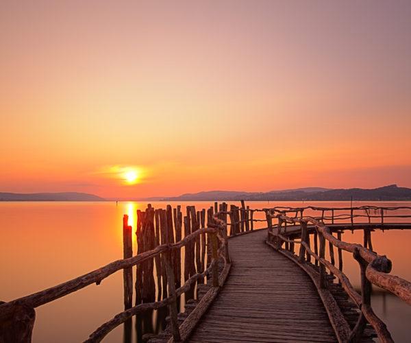 Landschaftsfotografie morgens am See