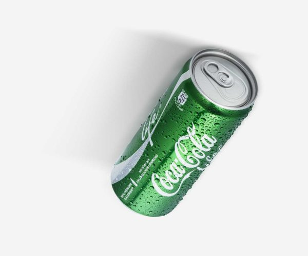 Produktfotografie Packshot: CocaCola grün