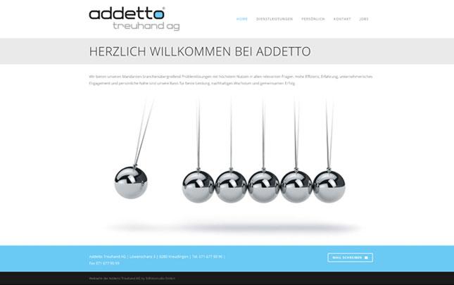 Webdesign: neue Webseite Addetto