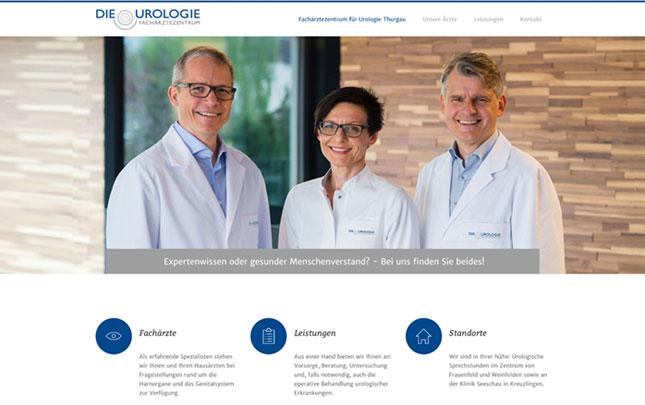 Webdesign: neue Webseite Die Urologie