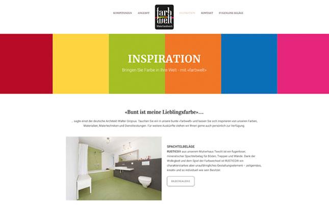 Webdesign: neue Webseite Farbwelt