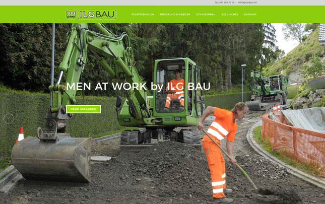 Webdesign: neue Webseite Ilg Bau AG