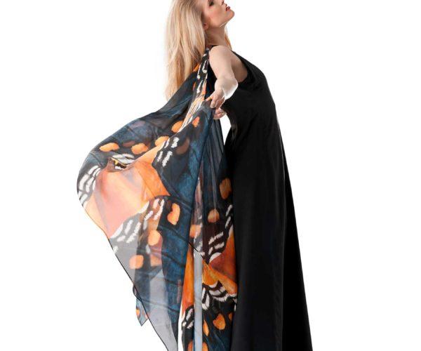 Produktfotografie Packshot: Abendkleid schwarz