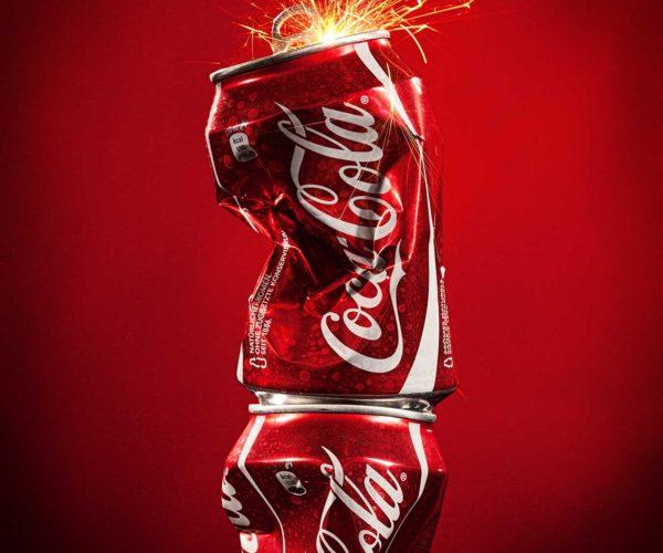 Produktfotografie Packshot: CocaCola