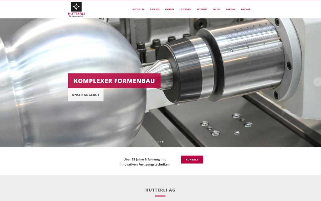 Grafik- und Webdesign: Hutterli Formenbau