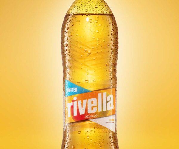 goldgelb GmbH - packshot Rivella Flasche Mango
