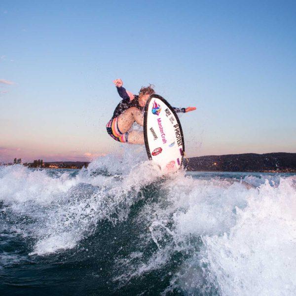 Aufnahmen in 360 Grad mit der Insta360Pro: wakesurferin