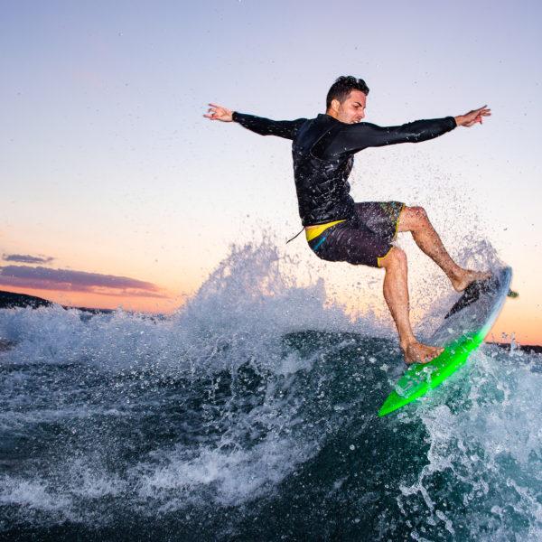 Aufnahmen in 360 Grad mit der Insta360Pro: wakesurfen