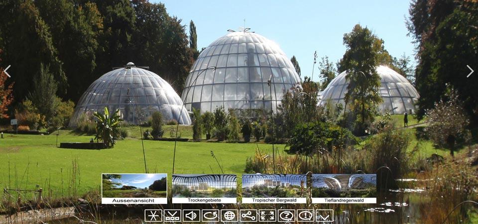 360Grad Virtuelle Tour Botanischer Garten