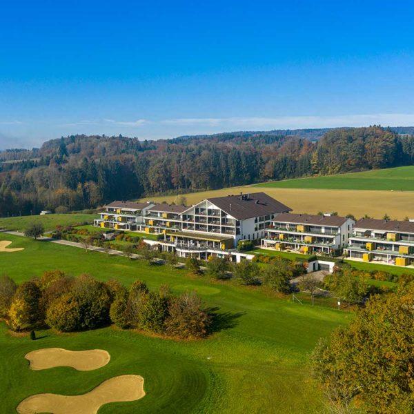 Drohnenfotografie Schweiz Golfplatz