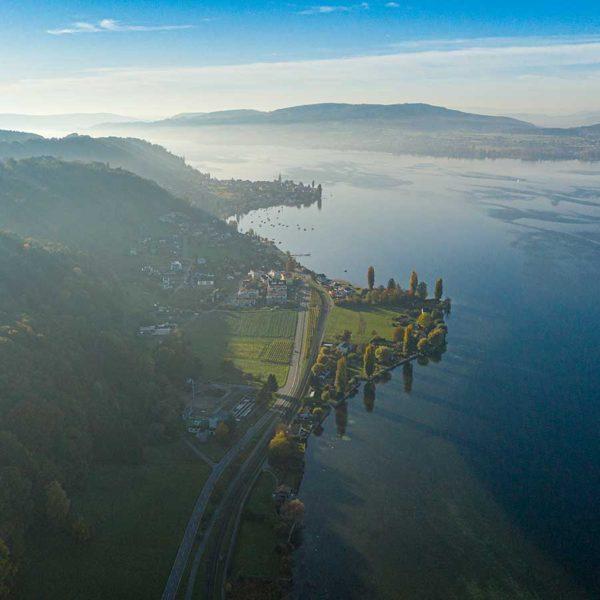 Professionelle Luftbildaufnahmen Seerücken Schweiz