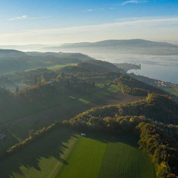 Luftbildaufnahme der Kraftgegend Seerücken & Untersee
